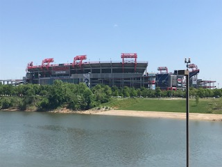 The mighty Nissan stadium. Home of the Tennessee Titans. The stadium is massive and seats 79,000 fans. Those up in the gods are a long way from the action.