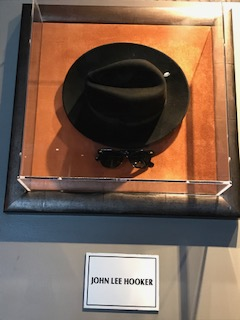 Sanity in a town of Country & Western music. John Lee Hookers hat & sunglasses in Hard Rock Cafe